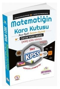 İnformal Yayınları 2021 KPSS Matematiğin Kara Kutusu