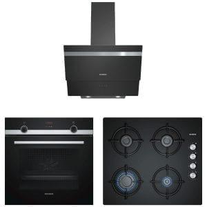 Siemens Siyah Selection Ankastre Set