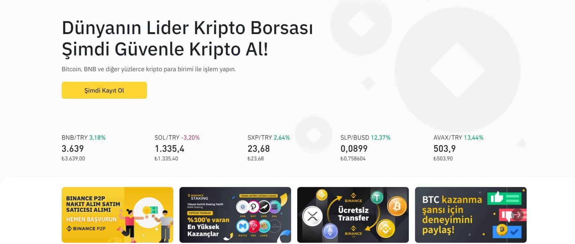 binance bitcoin sitesi