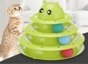 Petzoom 3 Katlı Kedi Oyuncağı Kedi Başlıklı