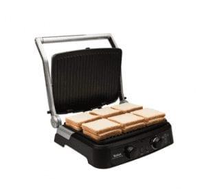 Tefal GC470 Grill Gourmet Minute 2000 Watt Paslanmaz Çelik Tost Makinesi