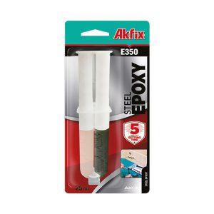 Akfix E350 Epoksi Çelik Yapıştırıcı Şırınga