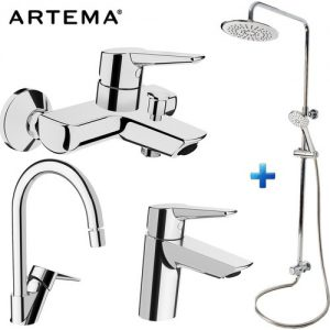 Artema Solid S 3 Lü Batarya Seti + Punto Plus 3C Tepe duş Seti