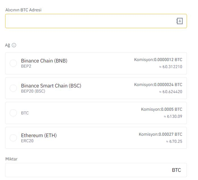 binance bitcoin nasıl gönderilir