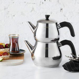 Karaca Kayra Black Çaydanlık Takımı