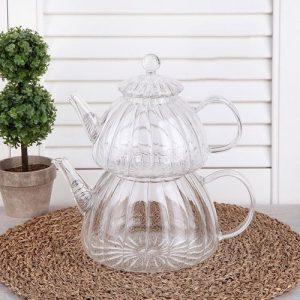 Perotti Cam Çaydanlık