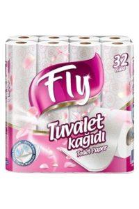 FlyPembe Desenli Çift Katlı Tuvalet Kağıdı 32 Rulo