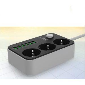 Ldnio – Akım Korumalı USB Girişli Çocuk Korumalı Grup Priz – SE3631
