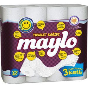 Maylo 3 Katlı Tuvalet Kağıdı 32'li
