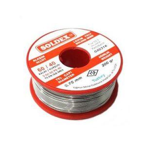 Soldex 200Gr 0,75mm 60/40 Lehim Teli