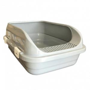 Çınar – Yüksek Kenarlıklı Açık Kedi Tuvaleti –Gri