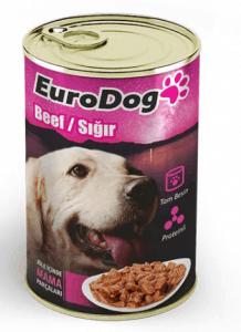 EuroDog – Biftekli Yetişkin Köpek Konservesi