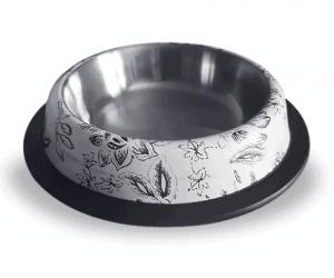 Eurodog – Köpek Mama ve Su Kabı Yaprak Desenli – Oval Çelik