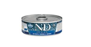 N&D Ocean - Levrek Sardalya ve Karidesli Kedi Konservesi