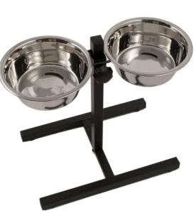 Pawise – Köpek Ayarlanabilir Ayaklı İkili Çelik Mama ve Su Kabı