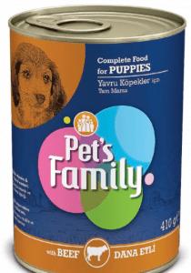 Pet's Family – Dana Etli Yavru Köpek Konservesi