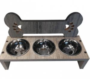 Petzanya – Kedi Mama ve Su Kabı – 3'lü – Kemik Patili