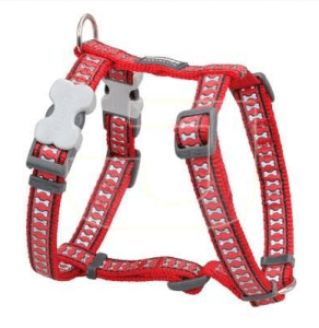 Red Dingo – Reflektörlü Köpek Göğüs Tasması – Kırmızı