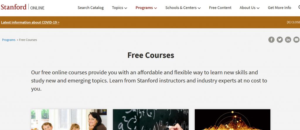 Stanford University Online (Standford Online)
