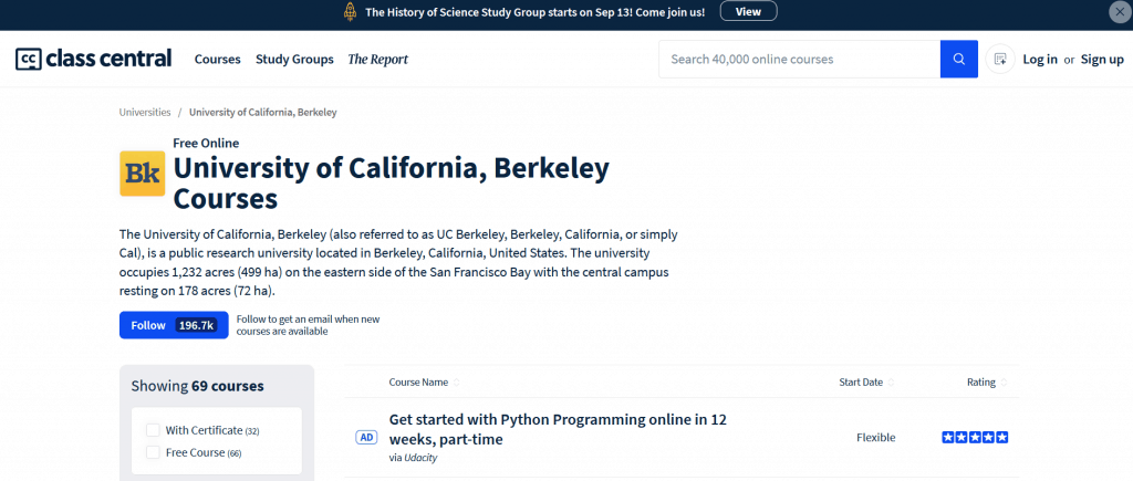 UC Berkeley Class Central